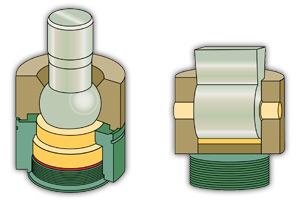 Kugelgelenke vs die Verbindung zwischen Stößel und Querspannstift