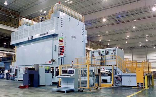 Large Capacity Transfer Presses Aida Tmx Metal Stamping